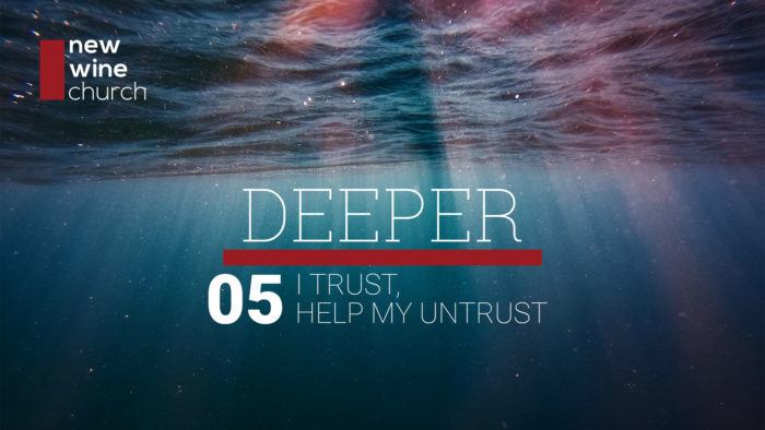 """A view from under water, looking up, with rays of sunlight shining down. And the words """"Deeper 01: Intro to Deeper"""""""